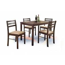 Комплект HALMAR NEW STARTER (стол+ 4 стула) эспрессо