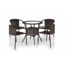 Стол обеденный HALMAR MIDAS (темно-коричневый)