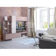"""Мебель для гостиной """"Аризона-9"""" 2.17 м (ясень темный-ясень светлый)"""