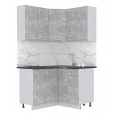 "Кухня угловая ""Мила-Лайт"" 1,2х1,2 м (бетон - бетон)"