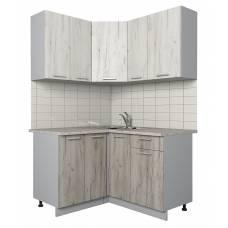 """Кухня угловая """"Мила-Лайт"""" 1,2х1,3 м (дуб серый-дуб белый)"""