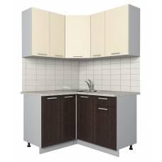 "Кухня угловая ""Мила-Лайт"" 1,2х1,3 м (дуб венге-ваниль)"