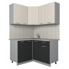 """Кухня угловая """"Мила-Лайт"""" 1,2х1,3 м (антрацит-вудлайн)"""