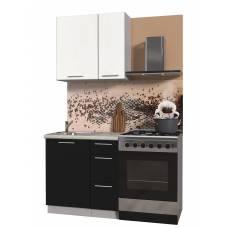 "Кухня ""Мила Пластик 0,8 А"" (черный-белый)"