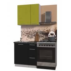 """Кухня """"Мила Пластик 0,8 А"""" (черный-оливковый)"""