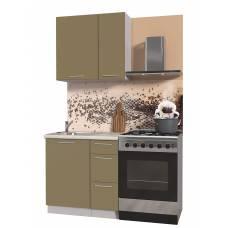 """Кухня """"Мила Пластик 0,8 А"""" (капучино)"""