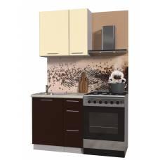 """Кухня """"Мила Пластик 0,8 А"""" (шоколад-ваниль)"""