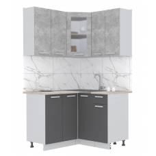 """Кухня угловая """"Мила"""" 1,2х1,2 м (антрацит - бетон)"""