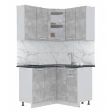 "Кухня угловая ""Мила"" 1,2х1,2 м (бетон - бетон)"