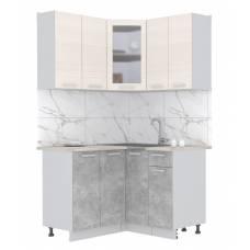 """Кухня угловая """"Мила"""" 1,2х1,2 м (бетон - вудлайн)"""