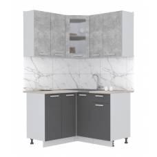 """Кухня угловая """"Мила"""" 1,2х1,3 м (антрацит - бетон)"""