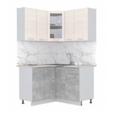 """Кухня угловая """"Мила"""" 1,2х1,3 м (бетон - вудлайн)"""