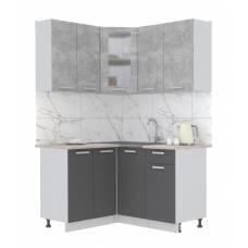"""Кухня угловая """"Мила"""" 1,2х1,4 м (антрацит - бетон)"""