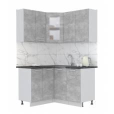 "Кухня угловая ""Мила"" 1,2х1,4 м (бетон - бетон)"