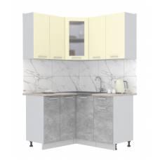 "Кухня угловая ""Мила"" 1,2х1,4 м (бетон - ваниль)"
