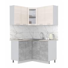 """Кухня угловая """"Мила"""" 1,2х1,4 м (бетон - вудлайн)"""
