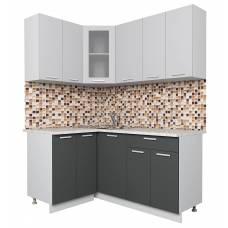 """Кухня угловая """"Мила"""" 1,2х1,6 м (антрацит-серебро)"""
