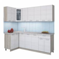 "Кухня угловая ""Мила"" 1,2х2,4 м (вудлайн кремовый)"