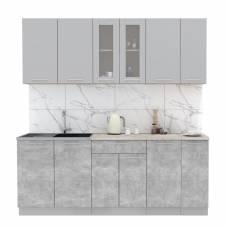 """Кухня """"Мила"""" 2,1 м ЛДСП (бетон - серебро)"""