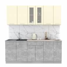 """Кухня """"Мила"""" 2,1 м ЛДСП (бетон - ваниль)"""