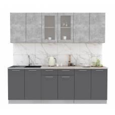 "Кухня ""Мила"" 2,4 м ЛДСП (антрацит - бетон)"