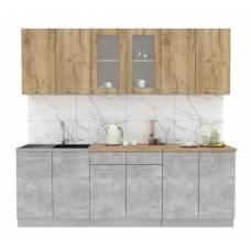 "Кухня ""Мила"" 2,4 м ЛДСП (бетон - дуб молотой)"