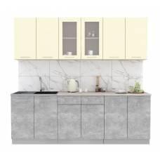 """Кухня """"Мила"""" 2,4 м ЛДСП (бетон - ваниль)"""