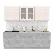 """Кухня """"Мила"""" 2,4 м ЛДСП (бетон - вудлайн)"""