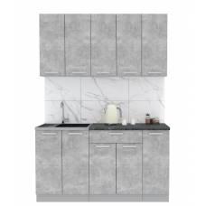 "Кухня ""Мила-Лайт"" 1,5 м ЛДСП (бетон - бетон)"