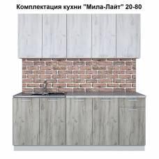 """Кухня """"Мила-Лайт"""" 2,0 м ЛДСП (дуб серый-дуб белый)"""