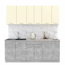 "Кухня ""Мила-Лайт"" 2,1 м ЛДСП (бетон - ваниль)"