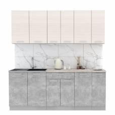 """Кухня """"Мила-Лайт"""" 2,1 м ЛДСП (бетон - вудлайн)"""