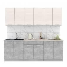 """Кухня """"Мила-Лайт"""" 2,4 м ЛДСП (бетон - вудлайн)"""