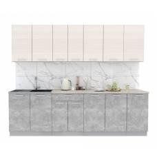 """Кухня """"Мила-Лайт"""" 2,6 м (бетон - вудлайн)"""