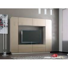 """Мебель для гостиной """"Лаванда-2"""" 2,4 м (кофе с молоком глянец глянец)"""