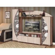 """Мебель для гостиной """"Олимп М-8"""" 2,0 м (ясень шимо темный-ясень шимо светлый)"""