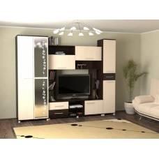 """Мебель для гостиной """"Флора"""" 2,7 м (венге-дуб молочный)"""