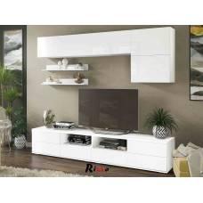 """Мебель для гостиной """"Лия-2"""" 2,47 м (белый-белый глянец)"""