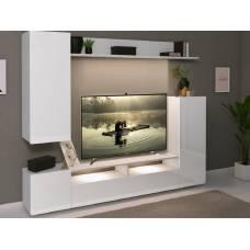 """Мебель для гостиной """"Лия"""" 2,13 м (белый-белый глянец)"""
