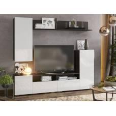 """Мебель для гостиной """"Лия"""" 2,13 м (венге-белый глянец)"""