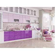 """Кухня """"Адель"""" 1,4 м МДФ (сиреневый-розовый глянец)"""