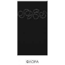 """Кухня """"Адель"""" 1,8 м МДФ Флора (белый-черный глянец)"""