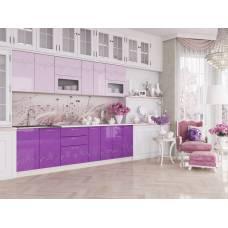 """Кухня """"Адель"""" 1,8 м МДФ (сиреневый-розовый глянец)"""