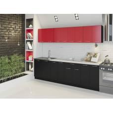 """Кухня """"Лана"""" 2,0 м ДСП (красный черный)"""